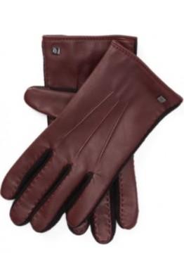 Бордовые  перчатки с флисом Ralph Lauren