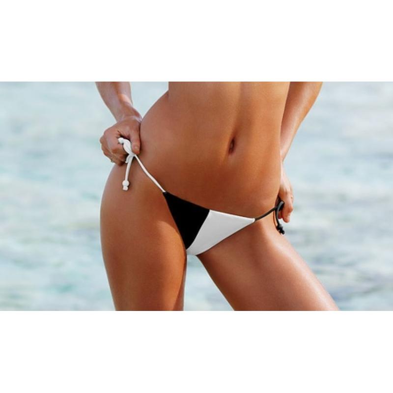 Черно-белый  купальник с push-up Victoria's Secret