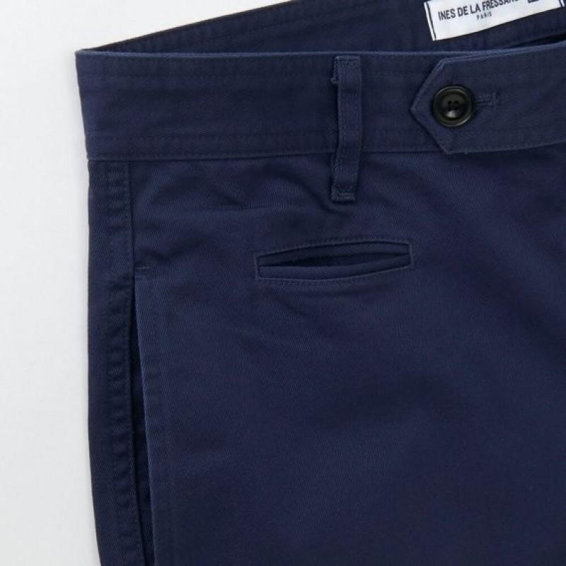 Темно-синие чиносы Uniqlo
