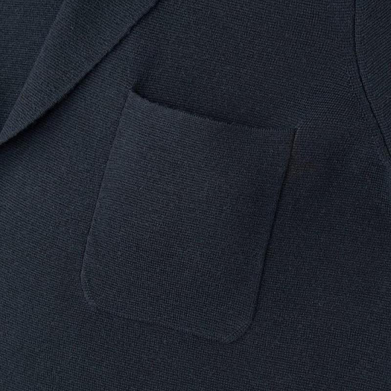Tемно-синий пиджак Uniqlo