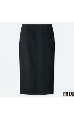 Черная джинсовая юбка Uniqlo