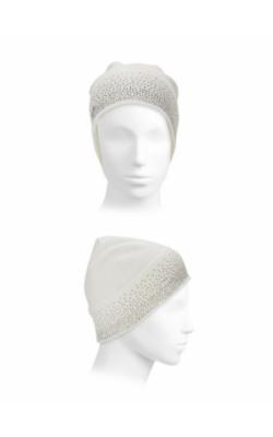 Серая шапка  со стразами  Calvin Klein