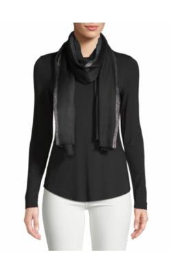 Черный шарф с люрексом Calvin Klein