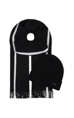 Шерстяной комплект шарф+шапка HUGO BOSS