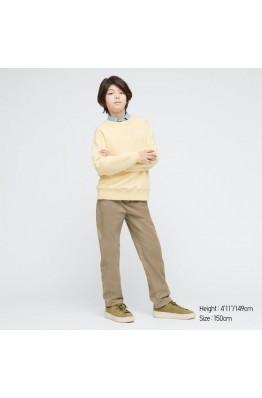 Штаны чиносы на мальчика Uniqlo стрейчевые бежевые