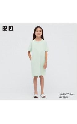 Платье Uniqlo на девочку светло-салатовое