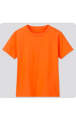 Футболка детская от Uniqlo оранжевая