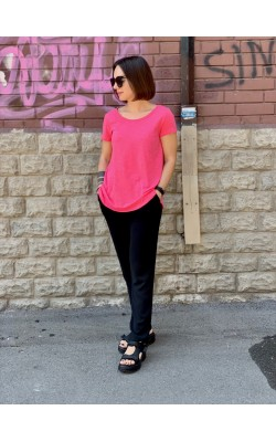 Розовая  футболка Calvin Klein