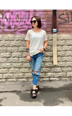Белая  ажурная футболка Calvin Klein