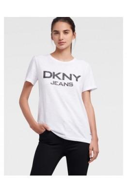 Белая футболка с лого DKNY Jeans