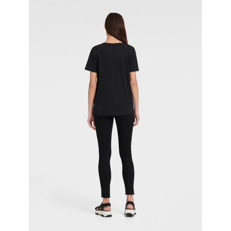 Черная футболка с вышивкой DKNY Jeans
