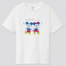 """Женская белая футболка """"Mickey Art""""Uniqlo"""