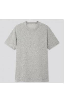 Серая футболка Uniqlo crew neck