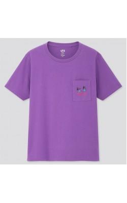 """Женская фиолетовая футболка """"Fortune Disney"""" Uniqlo"""