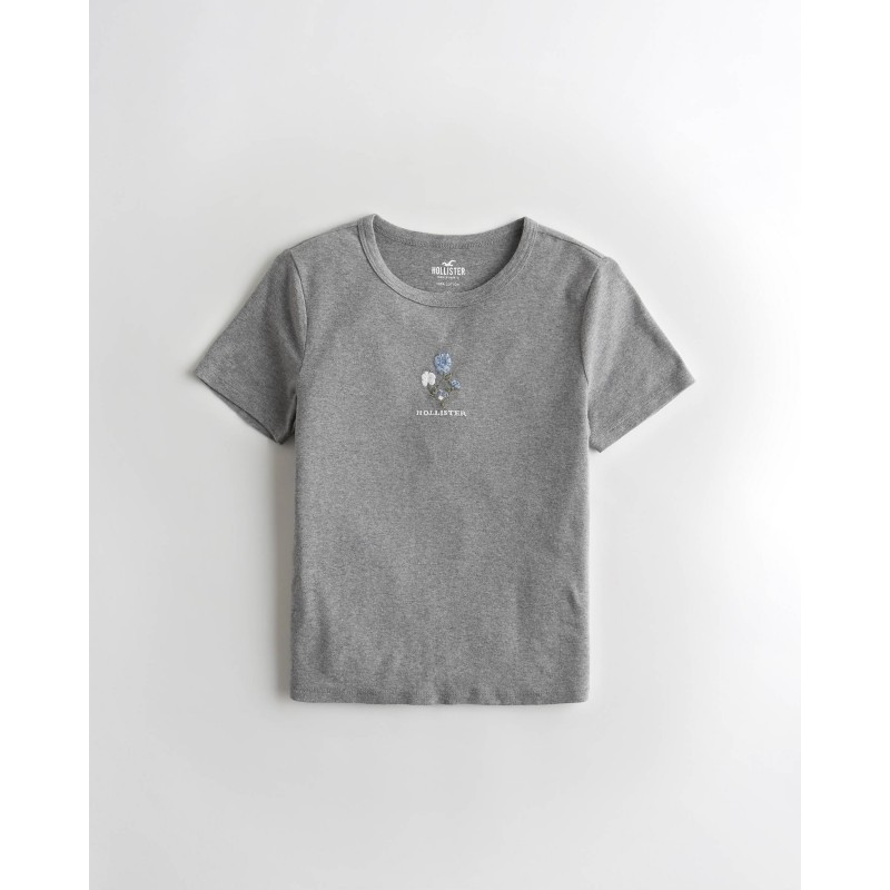 Серая футболка Hollister
