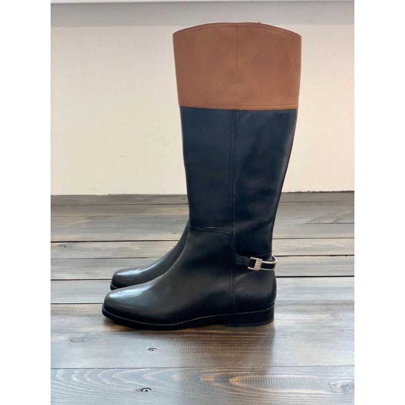 Черно-коричневые сапоги Ralph Lauren