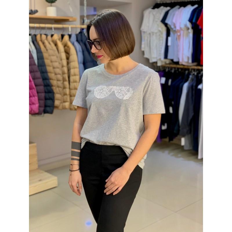 Cерая футболка Karl Lagerfeld Paris