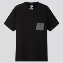 Футболка Uniqlo черная Сolor & Rhythm