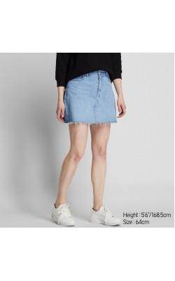 Голубая мини юбка Uniqlo