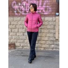 Розовая легкая куртка на пуху от Uniqlo