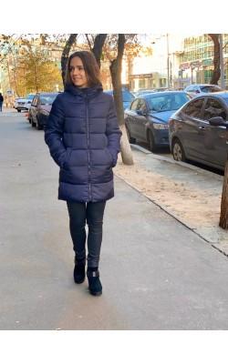 Темно-синяя куртка с капюшоном Andrew Marc New York