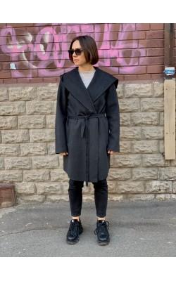 Серое шерстяное пальто Michael Kors