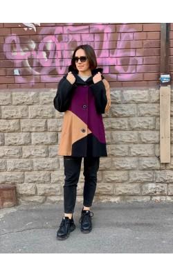 Шерстяное пальто с капюшоном Gallery New York