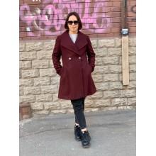 Бордовое шерстяное пальто Michael Kors
