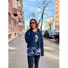 Джинсовая куртка Uniqlo темно-синяя oversized