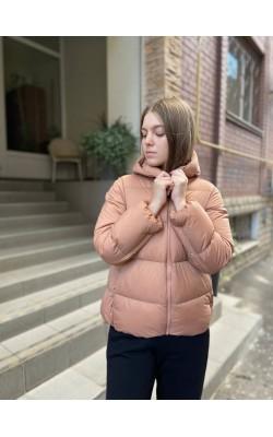 Куртка кокон Uniqlo розовая на пуху ультралегкая