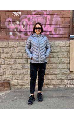 Серая легкая куртка на пуху Calvin Klein