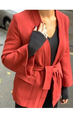 Бордовый кардиган H&M