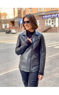 Куртка Andrew Marc New York кожаная черная