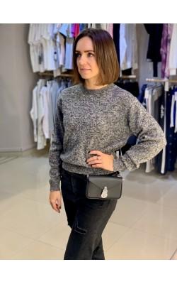 Шерстяной  меланжевый свитер Uniqlo