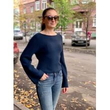 Шерстяной укороченый свитер с рукавами клеш Uniqlo