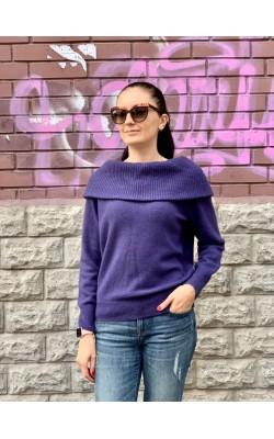 Фиолетовый  шерстяной  свитер Uniqlo