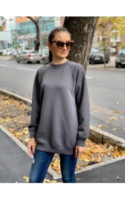 Женский серый свитшот Uniqlo