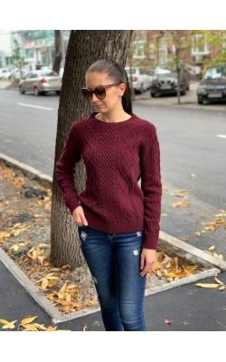 Бордовый свитер Uniqlo