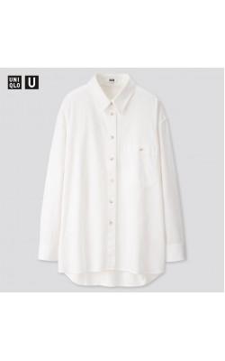 Рубашка Uniqlo белая oversize