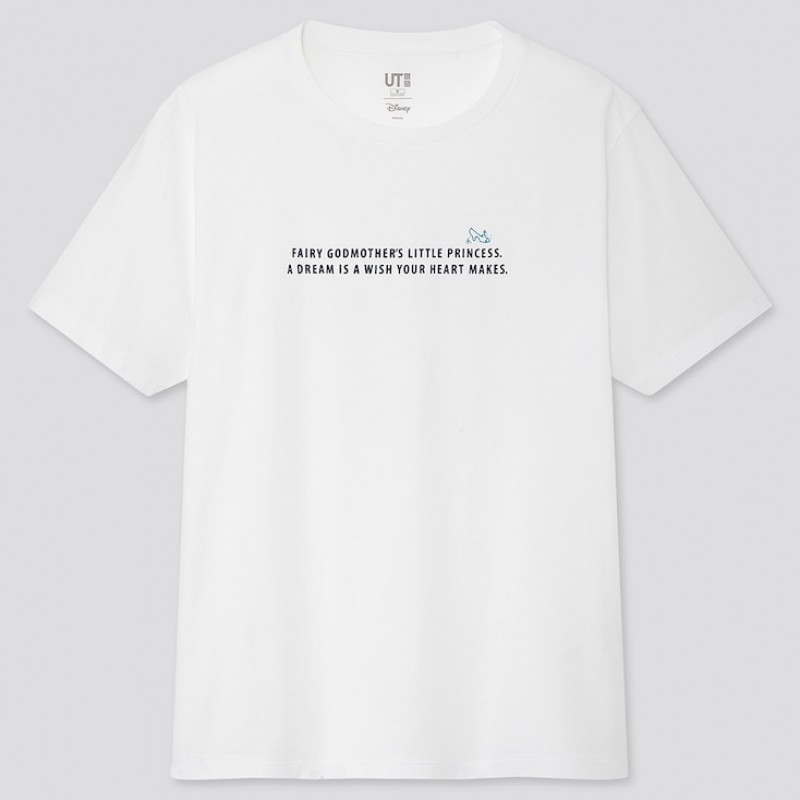 "Женская белая футболка ""Fortune Disney"" Uniqlo"