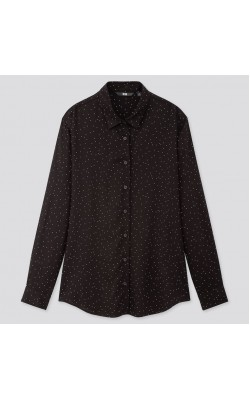Рубашка от Uniqlo в мелкий горох