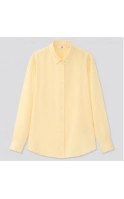 Рубашка Uniqlo светло-желтая