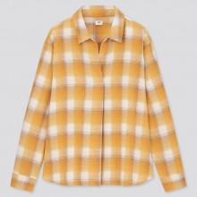 Фланелевая в клетку рубашка Uniqlo