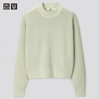 Светло-зеленый свитер Uniqlo