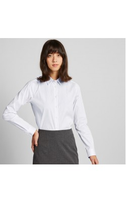 Рубашка в полоску Uniqlo