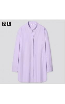 Рубашка оversize з коллекции Uniqlo U лиловая