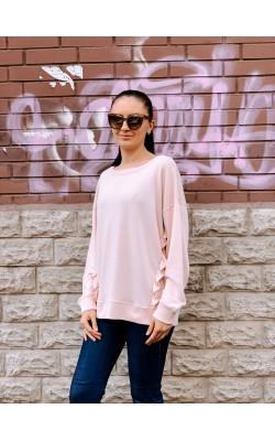 Розовый свитшот с рюшами Abercrombie & Fitch