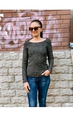 Серый меланжевый свитер Uniqlo