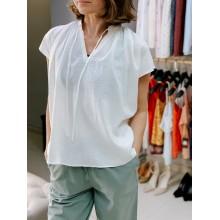 Блуза Uniqlo белая льняная