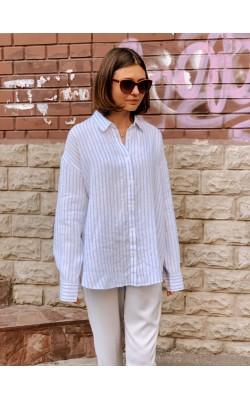 Рубашка Uniqlo льняная в полоску